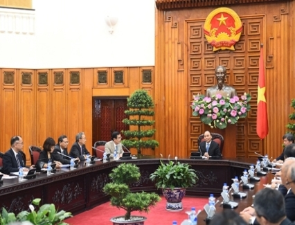 <b>PM: Gov't facilitates Japanese businesses to invest in VN</b> <br /><i>PM Nguyen Xuan Phuc on August 23 hosted a reception for a working group of the Japan Business Federation (Keidanren)'s Japan-Viet Nam Economic Committee, led by co-Presidents of the Committee Takahashi Kyohei and Nakamura Kuniharu.</i>